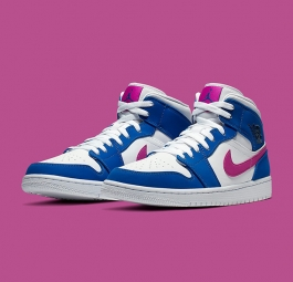 Air Jordan 1 Mid Hyper Royal Hyper Violet